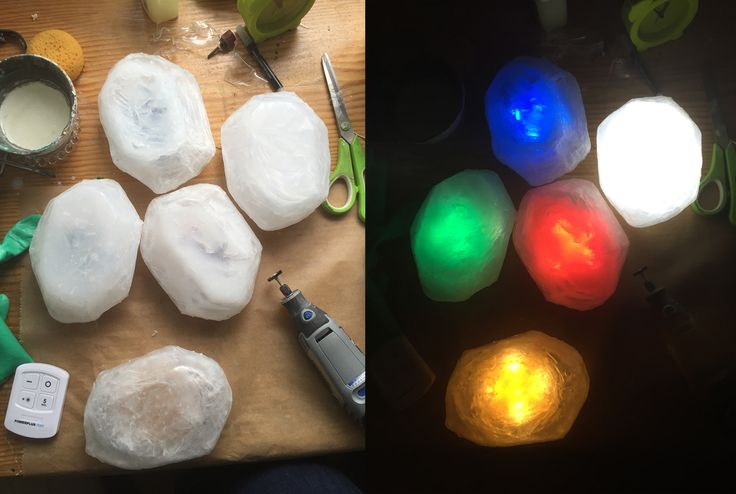 Glowing Crystals made of Worbla's Transpa Art