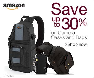 Announcement of special deals in Camera Cases and Bags at Amazon.com