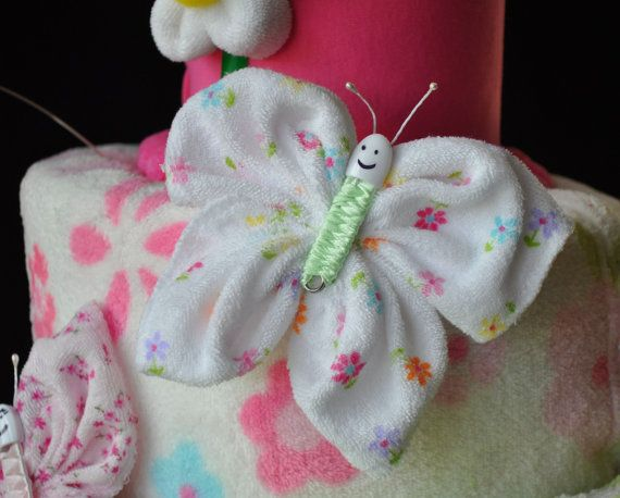 Washcloth Butterfly Diaper Cake Topper How To Video