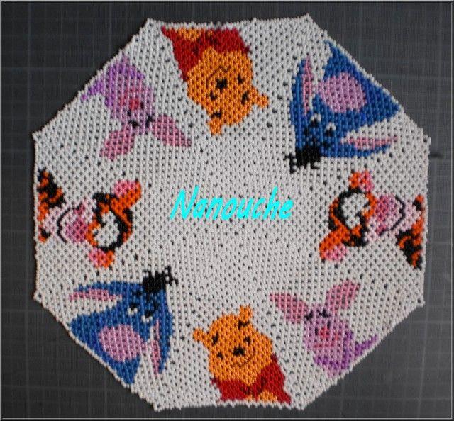 napperon tissage danois schéma de babé
