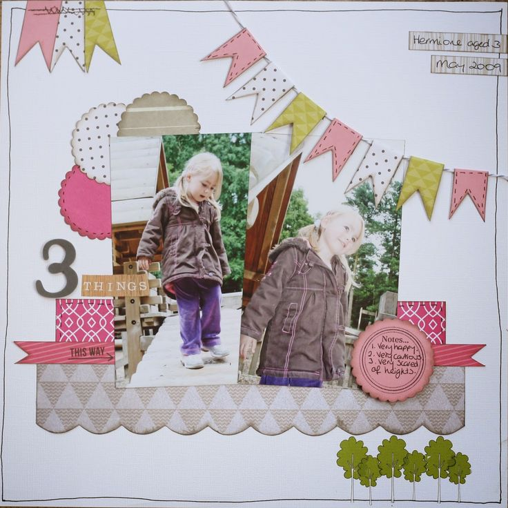 Crafty Alchemy - 3 Things - CSI:Color, Stories, Inspiration #scrapbook layout