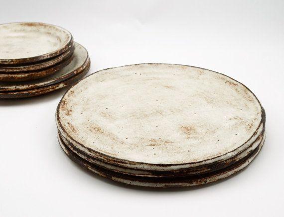 Ceramic Dinner Plate  Shino Plate  Pottery Plate  by susansimonini