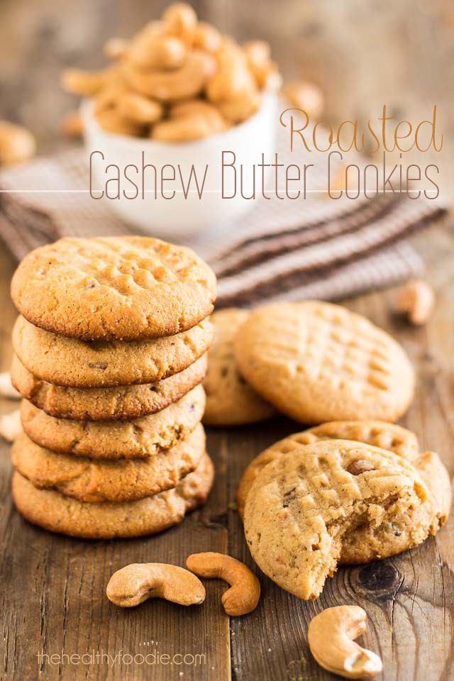 Roasted Cashew Butter Cookies from The po Foodie