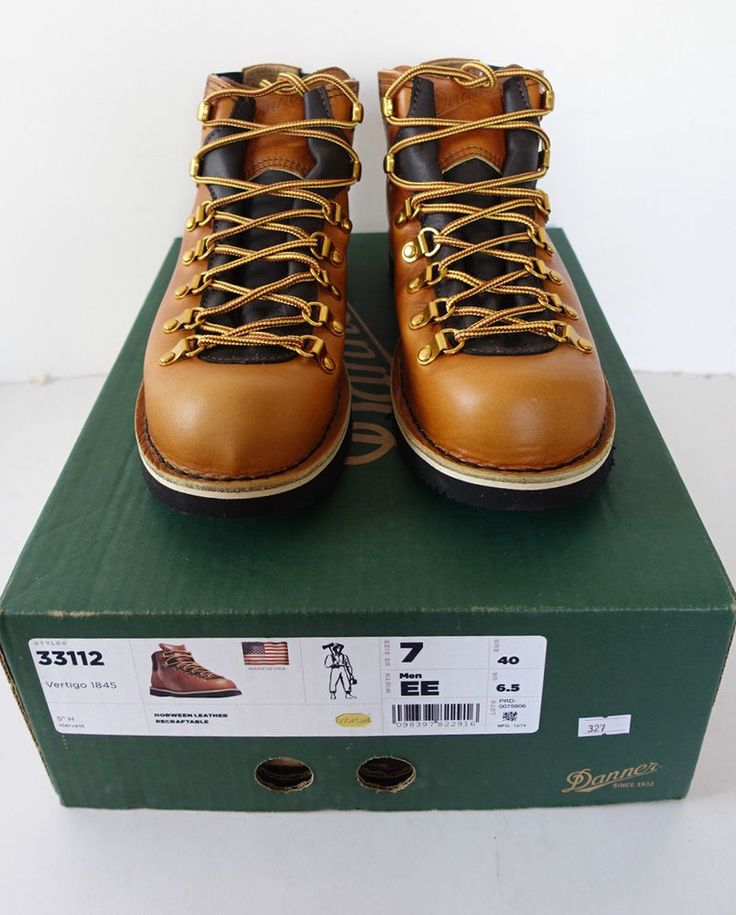DANNER USA Men Horween Brown Leather Retro Vintage Style Outdoor Hiking Boots 7 #DANNER #Boots