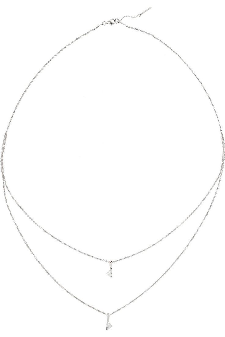 Maison Martin Margiela Fine Jewelry Solitaire Kette aus 18 Karat Weißgold mit Diamanten NET-A-PORTER.COM