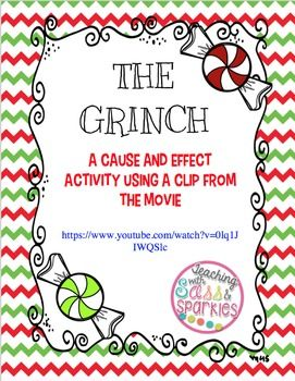 This activity is meant to accompany a short clip from the movie with Jim Carrey- How The Grinch Stole Christmas. The link to the clip on YouTube is provided with the download. Students will watch the clip and complete a cause and effect chart to answer the question- Why does the Grinch hate Christmas so much?