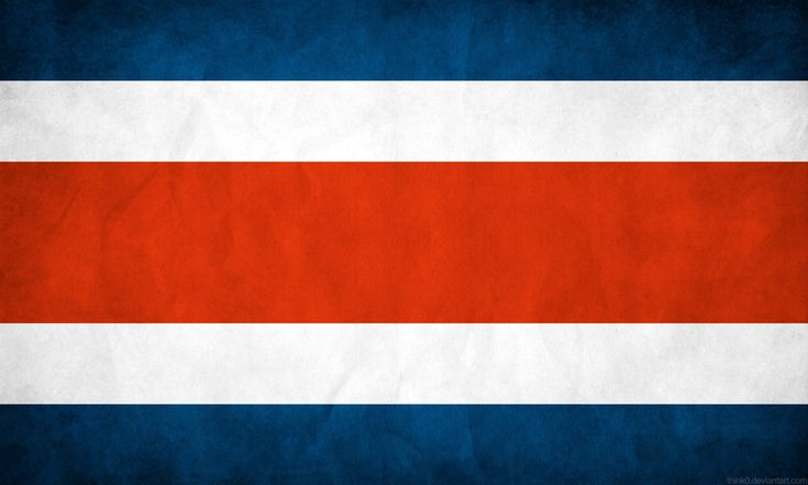 Costa Rica Flag Grunge by think0.deviantart.com on @DeviantArt