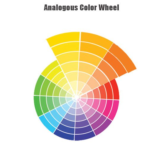 Analogous colors colors that are adjacent to each other on for Color wheel examples