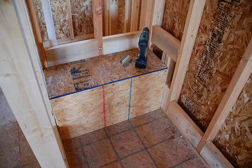 Diy Walk In Shower Framing Home Renovations Pinterest