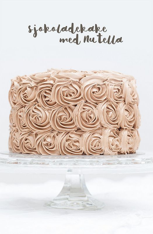 Chocolate Rose Cake with Nutella and Daim
