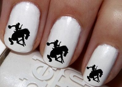 50pc Horse Rider Horse Bucking Cowgirl Rodeo Nail Decals Nail Art Nail Stickers Best Price NC1905