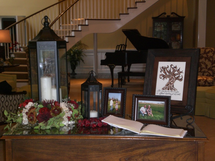 Guest registry table. Change it up for foyer at church
