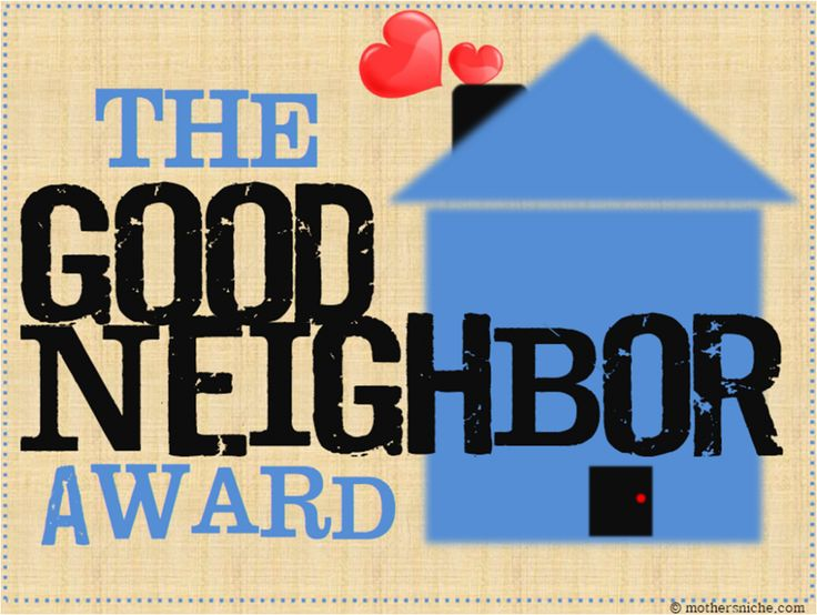 "Do you have a good neighbor that deserves the spotlight? Display this ""Good Neighbor"" award in their lawn, or better yet...attach it to some goodies!"