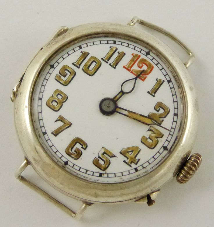 WW1 Era 1917 Sterling Silver Trench Style Wrist Watch London Silver Import Marks - The Collectors Bag