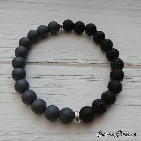 Check out this item in my Etsy shop https://www.etsy.com/ca/listing/564933898/matte-grey-hematite-diffuser-bracelet
