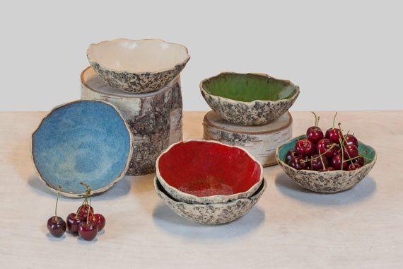 Dessert bowls Handmade ceramic dessert bowls by KARICERAMICS