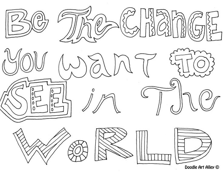 Bethechange Coloring Pages For TeenagersQuote PagesPrintable PagesFree PagesColoring BooksDoodle