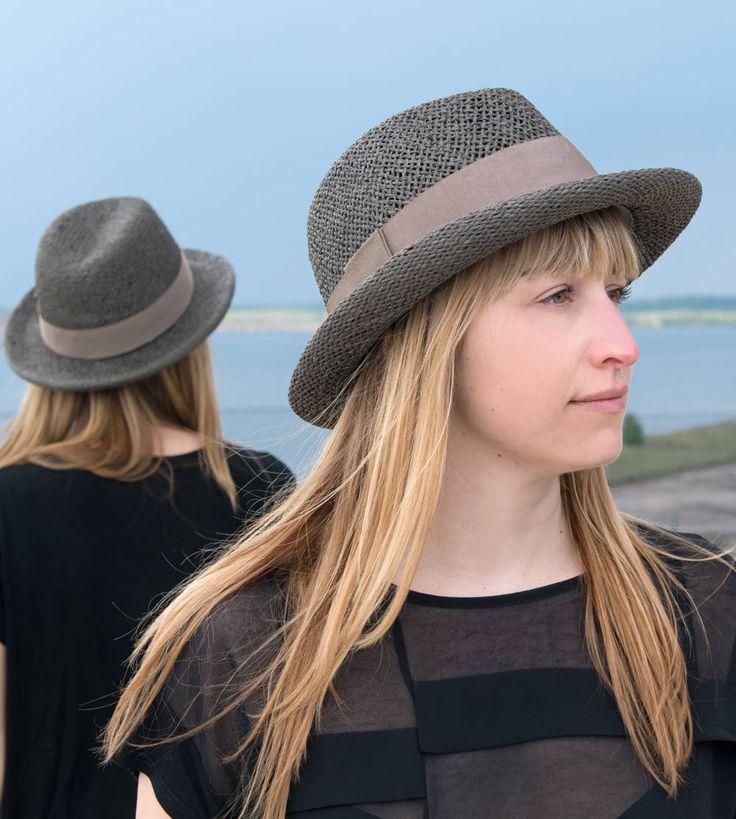 Fedora, Strohhut Damen, Herrenstrohhut, straw hat,Trend,Sonnenhut, Men's straw hat,chapeau paille,elegant,Designermode, handgefertigt,Garcon