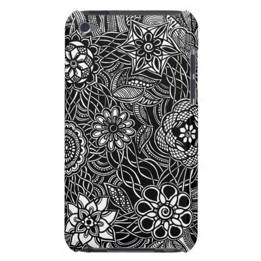 A unique Gardens #10 hand drawn art iPod case Barely There iPod Cases