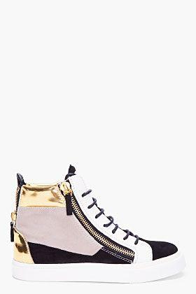 GIUSEPPE ZANOTTI August Colorblock Suede Sneakers