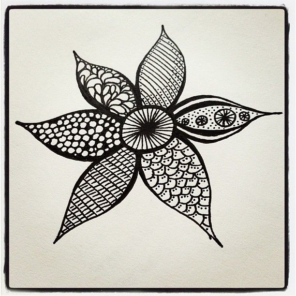 zentangle flowers  This is my favorite flower to draw