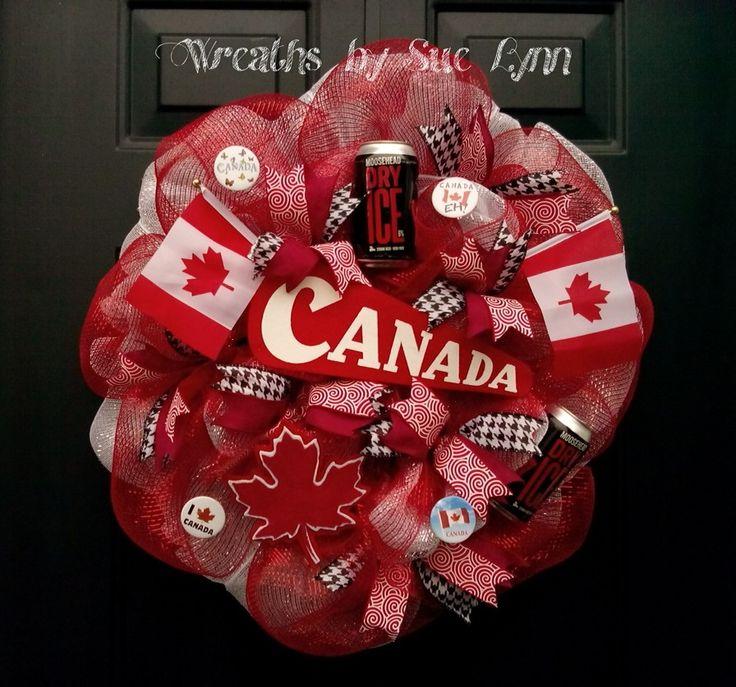 Canada day wreath