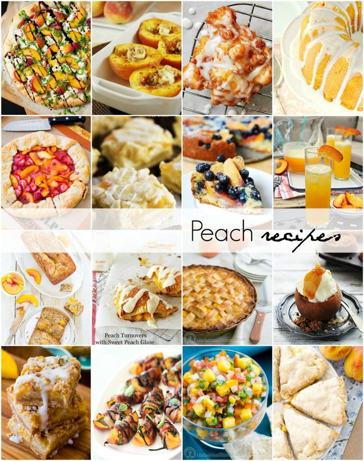 Peach recipes you will love! Can't wait to try some of these desserts!