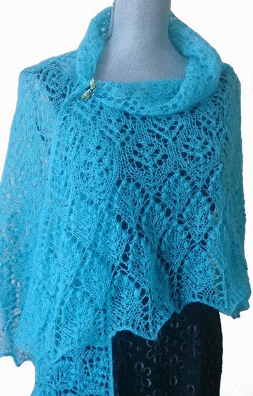 Hand made shawl at LARKASTYLE Etsy store #Hand knitted Lace Shawl #Scarf #Wrap Poncho #Wedding accessories #Women's gifts #Birthday gift #Gift for mom #Evening Vacation knitwear# Luxurious Knitwear