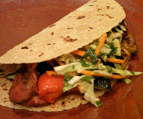 Killer chicken tacos -- Easy and delicious, this is the best chicken taco recipe I have found.
