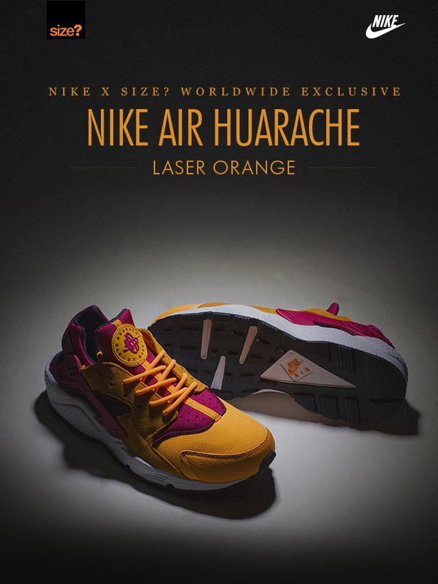 Nike Air Huarache: Laser Orange