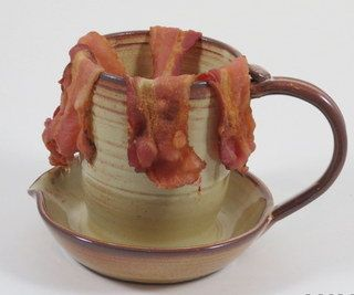 Microwave Bacon Cooker And Egg By Mapleleafpotteryca 55 00