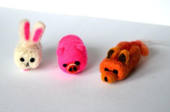 Cube Animals  Needle felted animal  Felted fox  by KubuHandmade