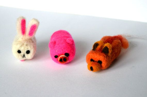 Cube Animals  Needle felted animal  Felted fox  by KubuHandmade