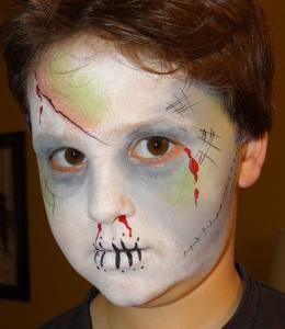 zombie face paint - Zombie Halloween Faces