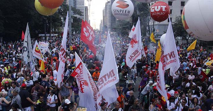 Greve Geral: em São Paulo, milhares de trabalhadores nas ruas