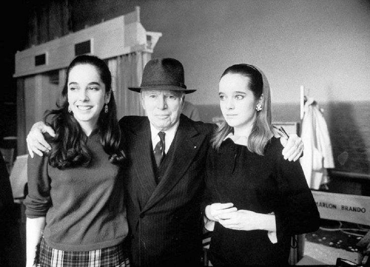 Чарли Чаплин с дочерьми Жозефиной и Викторией, США, 1966 год.