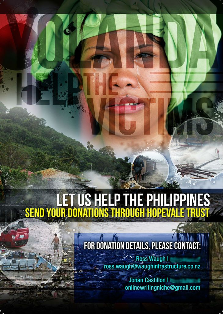 Let us help the Philippines.  Please give generously to assist more families awaiting our help.  Send your donations through the Hopevale Tr...