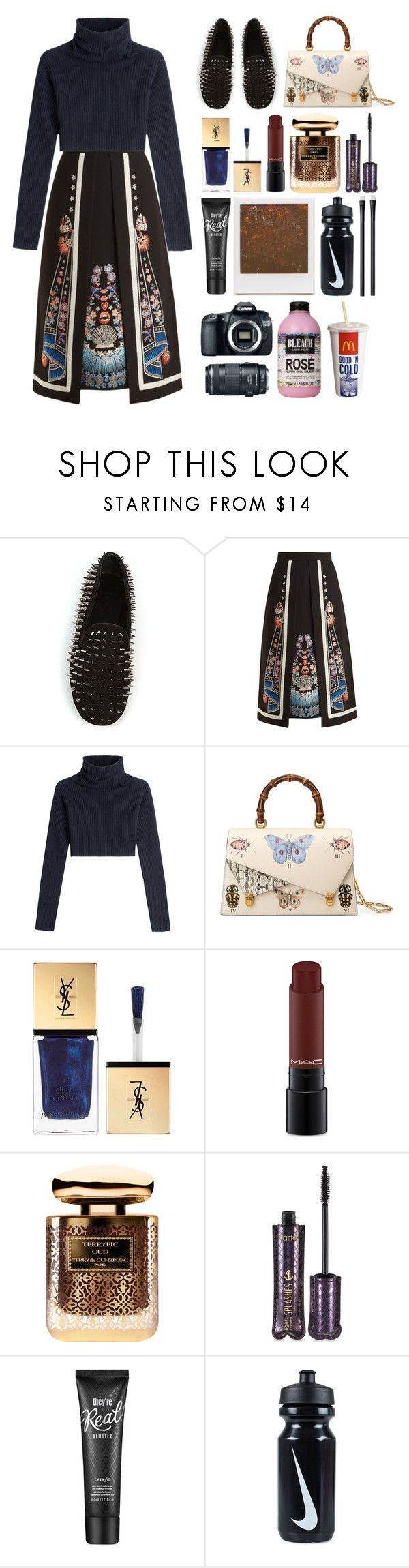 """6.313"" by katrinattack ❤ liked on Polyvore featuring UNIF, Temperley London, Valentino, Gucci, Yves Saint Laurent, MAC Cosmetics, Terry de Gunzburg, tarte, Benefit and Impossible Project"