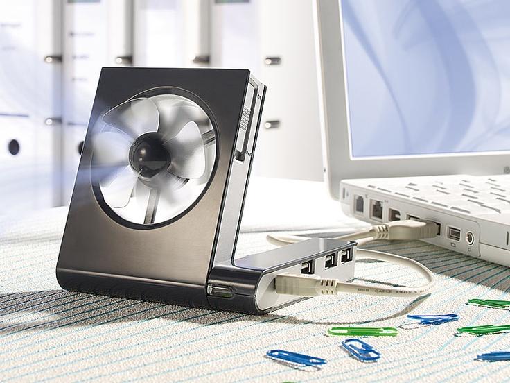 Xystec 3 fach USB2.0 Hub mit USB Ventilator