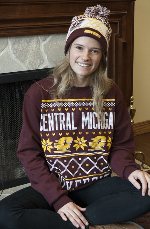 Holiday Sweater Crew – Maroon Central Michigan University Pattern – Collage!!