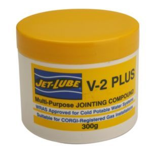 Jet-Lube Jointing Compound 300 G Jet-Lube Jointing Compound 300 G.This jointing compound from Jet-Lube is suitable for use with metal or plastic (non-abs) threaded connections for water bottled and mains gas compressed air oils fuels http://www.MightGet.com/april-2017-1/jet-lube-jointing-compound-300-g.asp