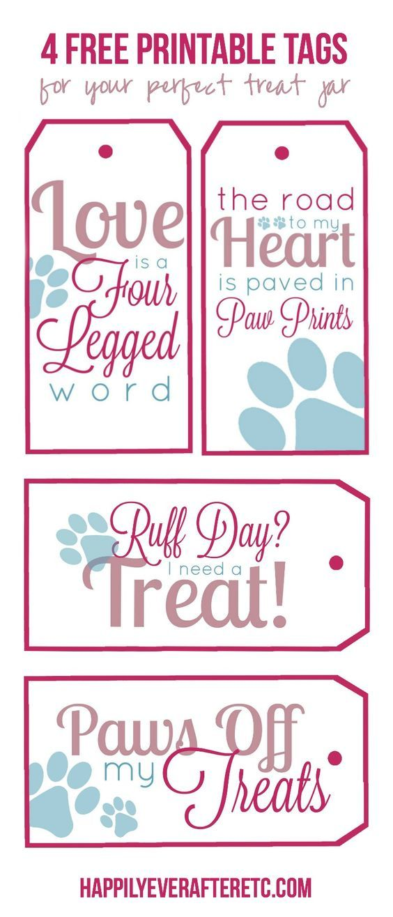 How to DIY a Dog Treat Jar with 4 Free Printable Tags - Happily Ever After, Etc.