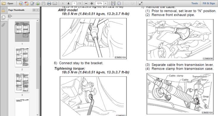 Subaru Legacy And Outback Factory Repair Manual 1993-1999