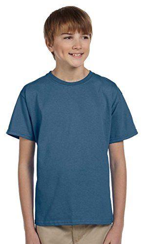 Gildan boys Ultra Cotton TShirtG200BINDIGO BLUES * Read more  at the image link.Note:It is affiliate link to Amazon.