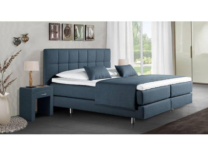 Boxspringbett Einzelbett Bologna 140x200 Cm Blau H2 Betten