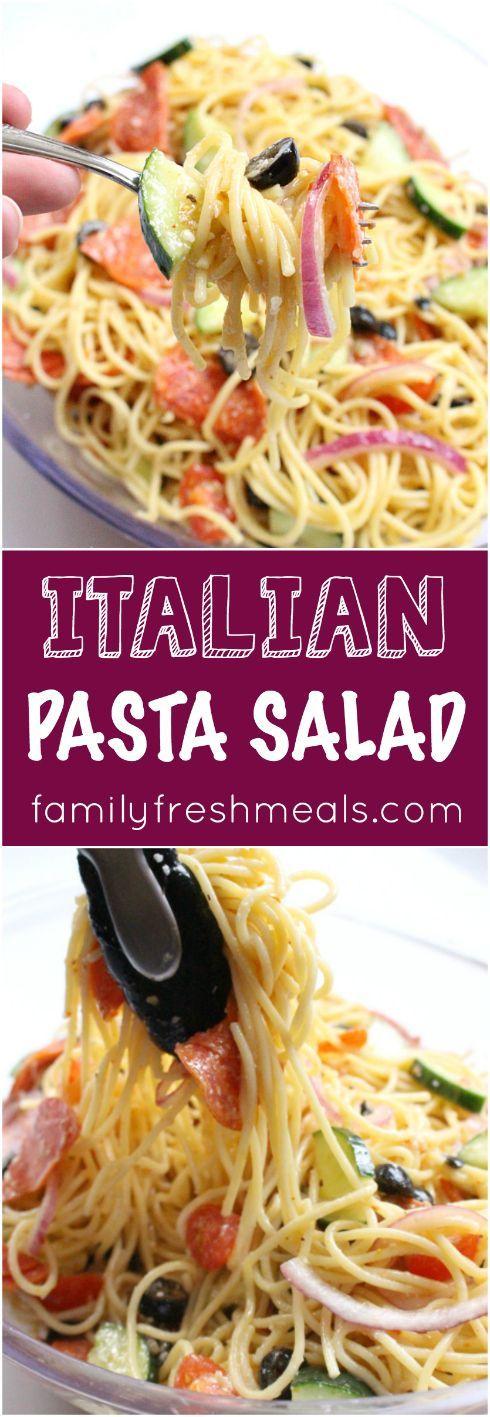 Italian Pasta Salad Recipe - Family Fresh Meals #pastafoodrecipes