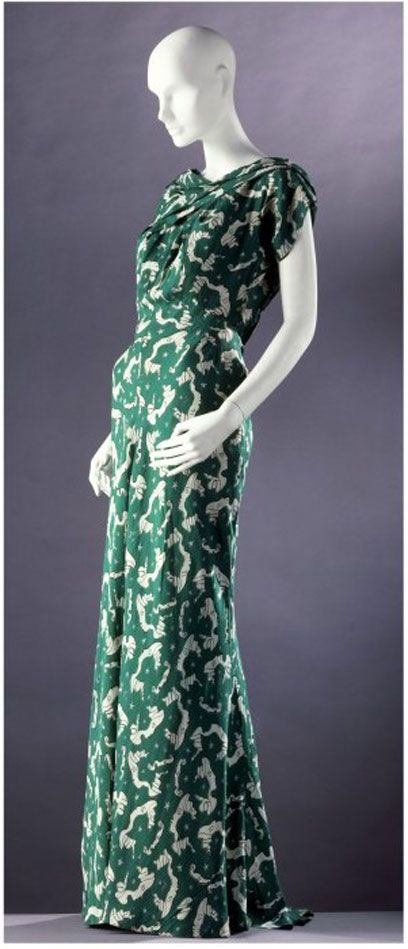 Evenning dress by Charles James, 1930s.