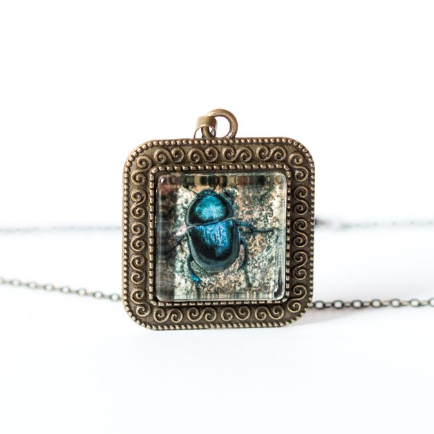 Naszyjnik z żukiem / Beetle Necklace - Art-Of-Nature