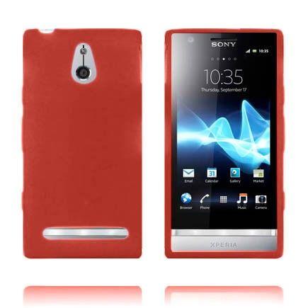 Soft Shell (Rød) Sony Xperia P Deksel