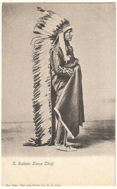 Dakota Sioux Chief circa 1900 by Yenshee Baby, via Flickr